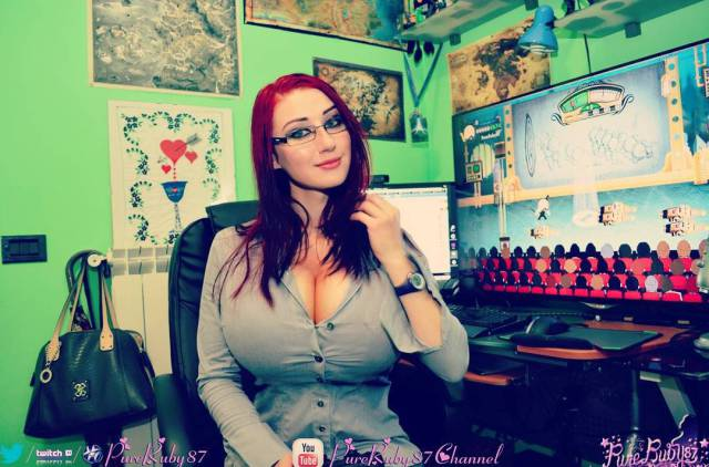This Geeky Gamer Has One Giant Pair of Boobs