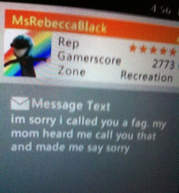 xbox message insults