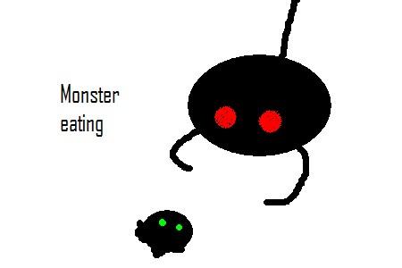 Monster eating